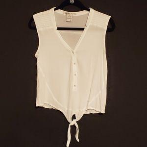 American Rag Womans White Top Sleeveless Size L